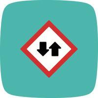 Icona di traffico bidirezionale di vettore