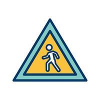 Vector Pedestrian crossing Icon