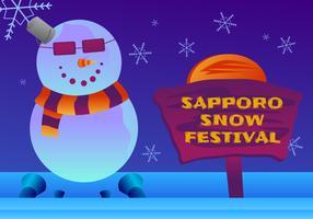 Vetores surpreendentes do festival da neve de Sapporo
