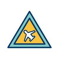 Icona del campo d'aria vettoriale