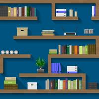 The maze of bookshelves