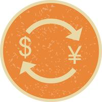 Intercambio de yenes con dólar Vector Icon