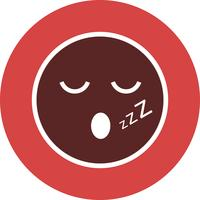 Sleep Emoji Vector Icon