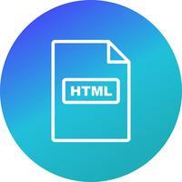 Icono de Vector HTML