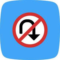Vector No U-turn Icon