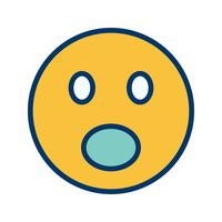 Surprised Emoji Vector Icon