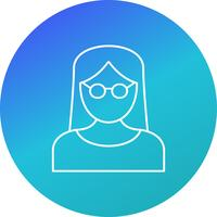 Female Scientist Vector Icon
