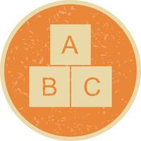 ABC kubussen vector pictogram