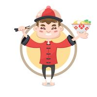Chinese character illustration