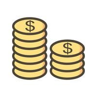 Coins Vector Icon