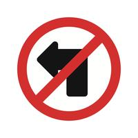 Vector No left turn Icon