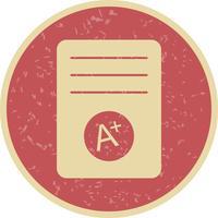 Icono de vector de grado A +
