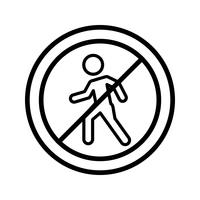 Vector No entry for pedestrians Icon