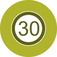 Vector Speed limit 30 Icon