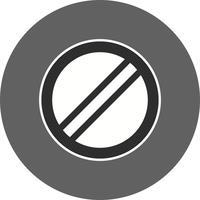 Vecteur limite de vitesse nationale s'applique icône