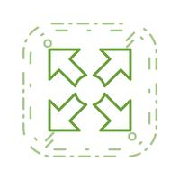 Icono de vector de pantalla completa