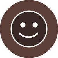 Glückliche Emoticon-Vektor-Ikone