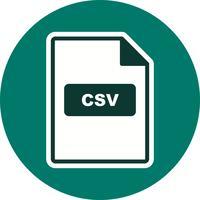 CSV Vector Icon