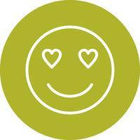 Liebe Emoji-Vektor-Symbol