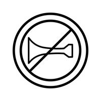 Vector Audible warning devices prohibited Icon