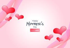 Glückliche Muttertagesvektorillustration