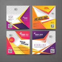 Modello di brochure aziendale con spazio per il testo