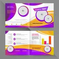 Yellow and purple business brochure template