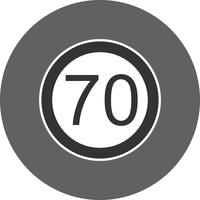 Vector Snelheidslimiet 70 pictogram