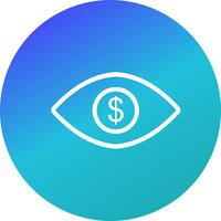 Eye Dollar Vector Icon