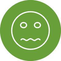 Nervoso Emoji Vector Icon