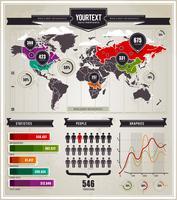 Vektor uppsättning infografiska element