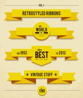Retro syled ribbons vector set