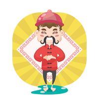 Illustrazione di carattere cinese