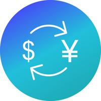 Exchange yen With Dollar Vector Icon