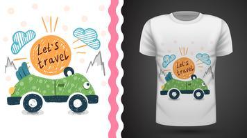 Pretty travel - idée de t-shirt imprimé vecteur