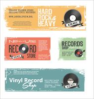 Record shop retro vintage background
