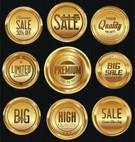 Lyx premium guld märken och etiketter