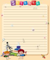 Line paper template with boys reading book