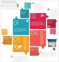 Infografisk modern designmall