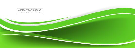 Abstract creative green wave banner design