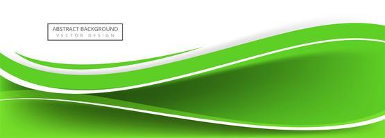 Diseño creativo abstracto de la bandera de la onda verde