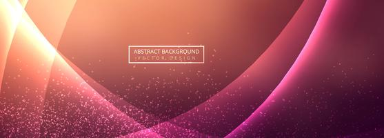 Abstract colorful shiny wave banner vector