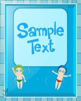 Hintergrundschablone mit Kindern im Pool