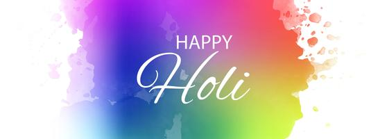 Happy Holi Indian spring festival colorful banner design