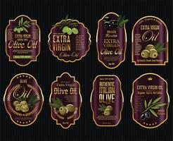 Olive oil retro vintage golden background collection