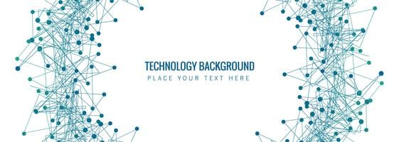 Abstract technology banner template background vector