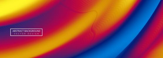 Fond de bannière vague colorée abstraite