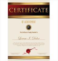 Designschablonen-Vektorillustration der Bescheinigung oder des Diploms Retro-