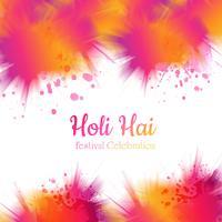 Hermoso fondo colorido gulal del vector festival holi