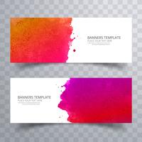 Vector conjunto abstracto colorido acuarela encabezado